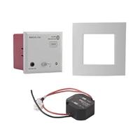 Receptor de audio In Wall Bluetooth + frontal gris aluminio