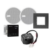 """Receptor d'Audio In wall Bluetooth AC, altaveus 2 ½"""" , negro."""