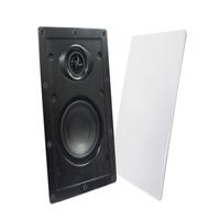 Pareja cajas acústicas empotrar 100V/8Ω 2,5/5/10W blancas
