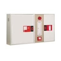 Armari extintor+ polsador + alarma horitzontal 600x750x260 p/BIE-25