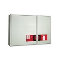 Armario extintor de 300x750x215 puerta ciega pintada
