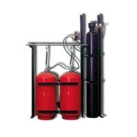Bateria de 2 cilindres de 80 litres de H2O + 1 de N2