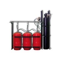 Bateria de 3 cilindres de 80 litres de H2O + 1 de N2