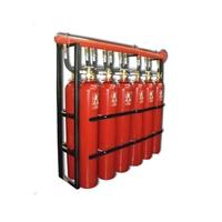 Batería de 12 cilindros de CO2 de 67L 2 filas 2 travesaños con 600 Kg CO2
