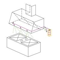 Kit extinció automàtica de campana de cuina IC-6 ESCUMA