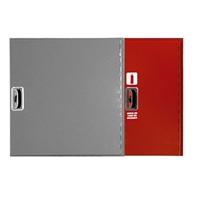 Armario modular extintor 6kg Plus 650x350x180mm horizontal. Puerta ciega roja