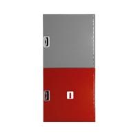 Armario extintor doble 650x680x180 Plus Vertical. Puerta Ciega Roja