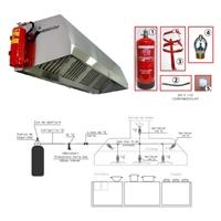 Kit detección y extinción Campanas EPC-XT-10. Ext 9L + 1 sprinkler