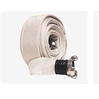 Manguera sintetica blanca D=45mm, 20m. extremos racor BCN aluminio fundido
