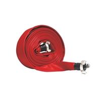 Manguera caucho roja D=45mm, 25m. extremos racor UNE