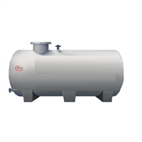 Dipòsit 33000 litres d'aigua, cilíndric horitzontal de superfície Ø=2,5m L=6,9m
