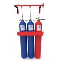 Bateria d'aigua nebulitzada de 2 cilindres 80L de H2O + 1 cilindre 80L de N2