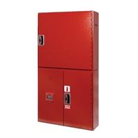 Conjunto BIE + armario extintor + alarma 1300x680x180 rojo