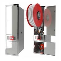Conjunt BIE-25 + Armari extintor + Mod. Alarma. Encastable frontal INOX. Slender-3