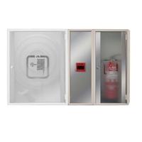 Armario extintor + módulo alarma Sunglass. 750 x 600 x 195mm. Puerta cristal.
