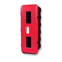 Armario ABS para extintor CO2 5Kg 830 x 310 x 265mm. Armario negro. Puerta roja.