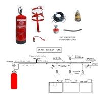 Kit detección y extinción Deaes EAC-Sensor tube XT-10. Ext. 9L, 1 Difusor + pulsador