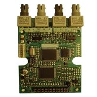 Targeta comunicació fibra òptica per a central analògica
