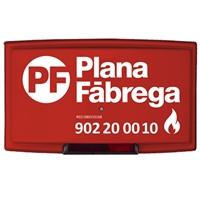 Sirena exterior 24V 2h. Plana Fabrega., luz roja.+tapa modelo Ultra