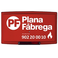 Sirena exterior 24V 2h. Plana Fabrega., llum vermella.+tapa model Ultra