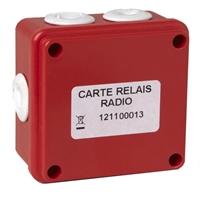 Receptor via radio con salida relé para detector autónomo de humos.