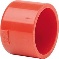 Tapón final tuberias 25 mm detección de aspiración rojo