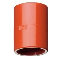 Unión recta para tuberia 25mm detección por aspiración Roja