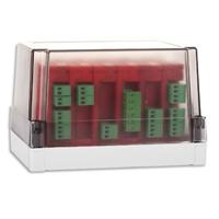 Kit de 10 entrades (5 mòduls analog.2 ent.)+caixa estanca
