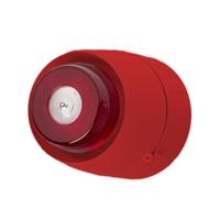 Sirena interior vermella flash blanc. Sostre Tub vist. 32 tons (Cert. EN54-3 i EN54-23)