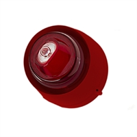 Sirena interior roja flash blanco. Pared. 32 tonos (Cert. EN54-3 y EN54-23)