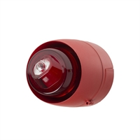 Sirena interior vermella flash blanc. Paret tub vist. 32 tons (Cert. EN54-3 i EN54-23)