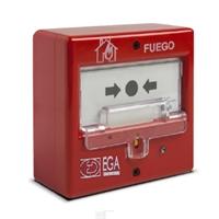 Pulsador manual rearmable de alarma de incendio convencional EGA