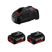 Cargador con 2 baterias POWER SET 18 V 6,0 Ah