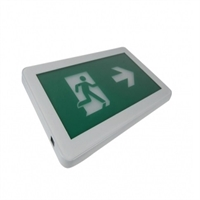Kit I-Sign señalización y emergencia LED. Visib 24m . Autonomia 1h. Marco blanco