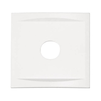Marco para placa frontal 1 elemento color blanco RAL 9016