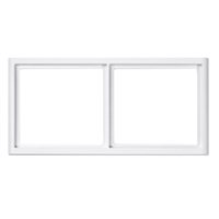 Marc per a placa frontal 2 elements color blanc RAL 9016