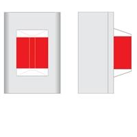 Visor señalizador sobrepuerta superficie 1 luz roja