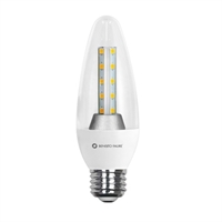 Vela LED transparent 8W E27 240V 2500K 360º 572lm