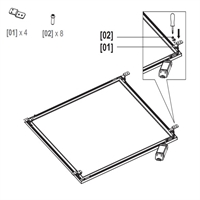 Kit montaje superfície panel Start Flat 120X30X1