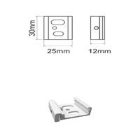 Conector fijación techo blanco carril trifásico