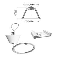 Accessori suspensió sostre (3m) blanc carril trifàsic