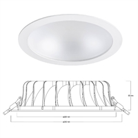 Downlight Syl-lighter II IP44 25W 4000K 74º 2289lm