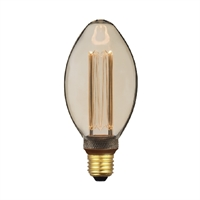 Bombeta LED decorativa B75 Ø75x162mm 4W E27 230V 2000K 360º 200lm
