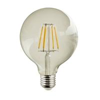 Globo LED deco Ámbar Ø125X175mm 7W E27 220V 360º 2700K 750lm