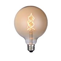 Globo filamento LED curvo dorado Ø125X170mm 4W E27 220V 360º 2700K 240lm