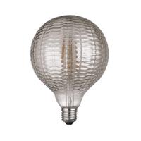Globus LED estriat gris fumé Ø125X175mm 6W E27 220V 360º 2700K 500lm