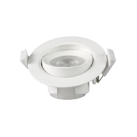 Spotlight LED Buxo rodó orientable 25º blanc Ø90x42mm IP20 7W 3000K 38º 560lm