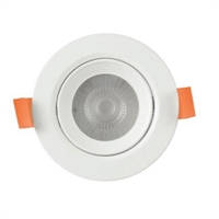 Spotlight LED Buxo rodó orientable 25º blanc Ø140x53mm IP20 12W 3000K 38º 960 lm