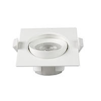 Spotlight LED Buxo quadrat orientable 25º blanc 90x90x42mm IP20 7W 4000K 38º 600lm