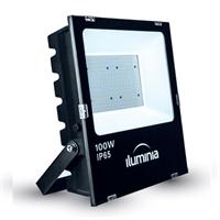 Projector LED Tango negre IP65 amb protector sobretensions 2kV. 100W 100-240Vac 3000K 120º 10525lm